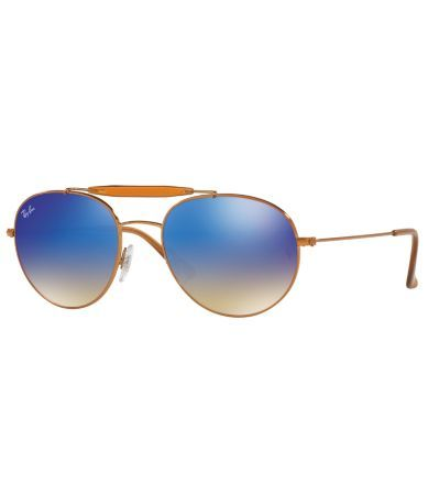 bd56ab59b60c Ray-Ban Double-Bridge Mirrored Aviator Sunglasses  Dillards ...