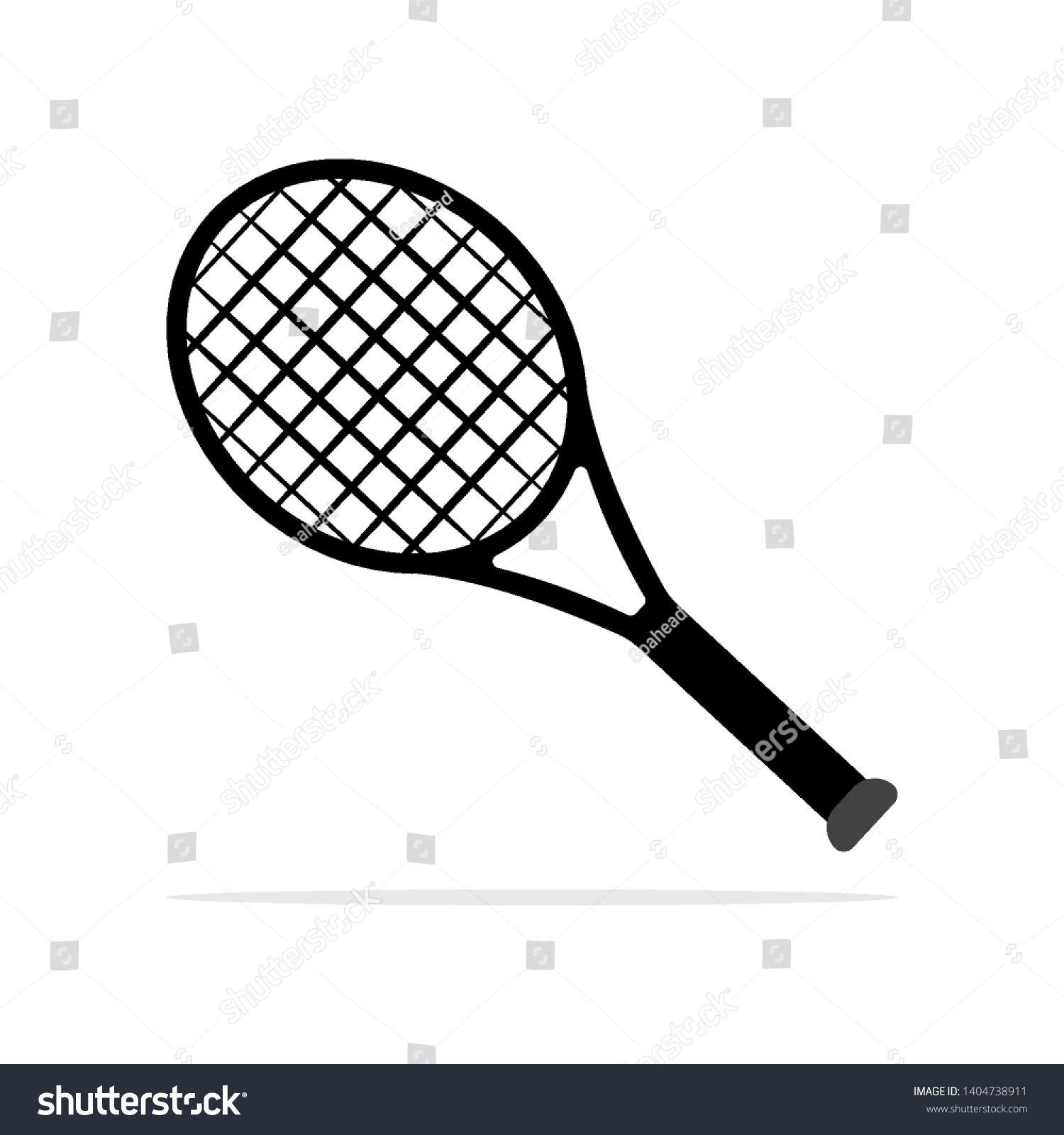 Tennis Racket Icon Vector Concept Illustration For Design Ad Sponsored Icon Racket Tennis Vector Graphic Arts Tutorials Tennis Illustration