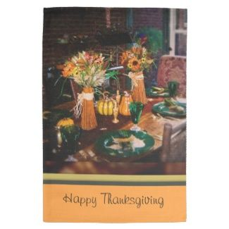 Thanksgiving Kitchen Towel Personalize with your own text