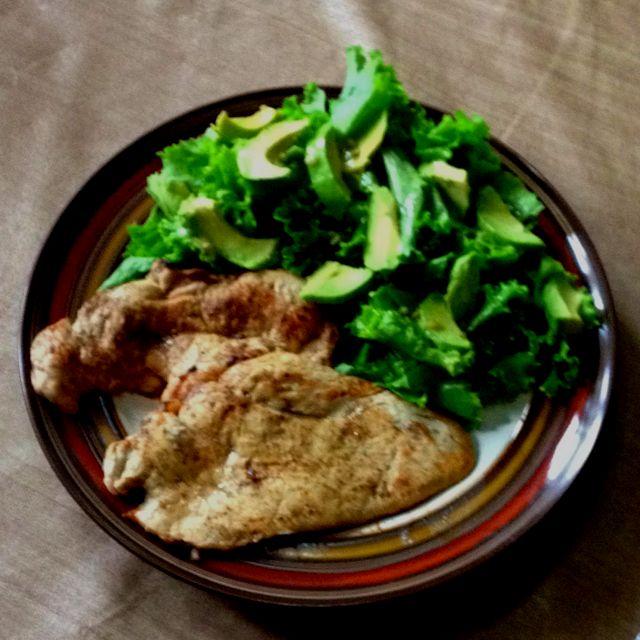 Para la dieta! Pollo con ensalada...
