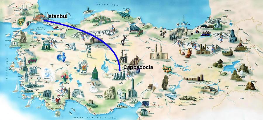 mapacapadocia Turqua AnkaraTurkeyAnkara Pinterest