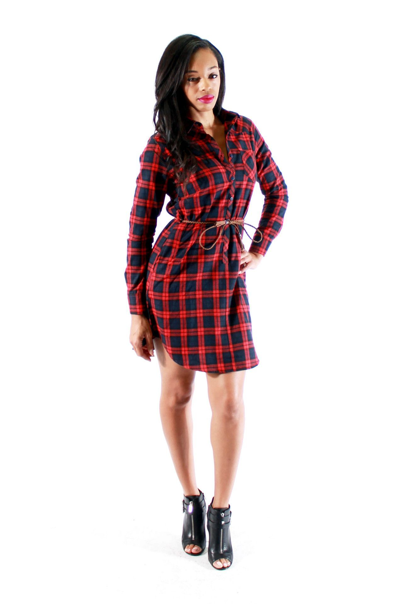 Flannel dress for women  Flannel dresses  Products  Pinterest  Flannel dress and Products