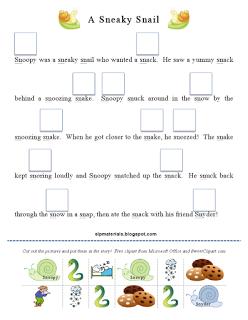Ms. Lane\'s SLP Materials: Articulation: S Blends Story Activity (Sn ...
