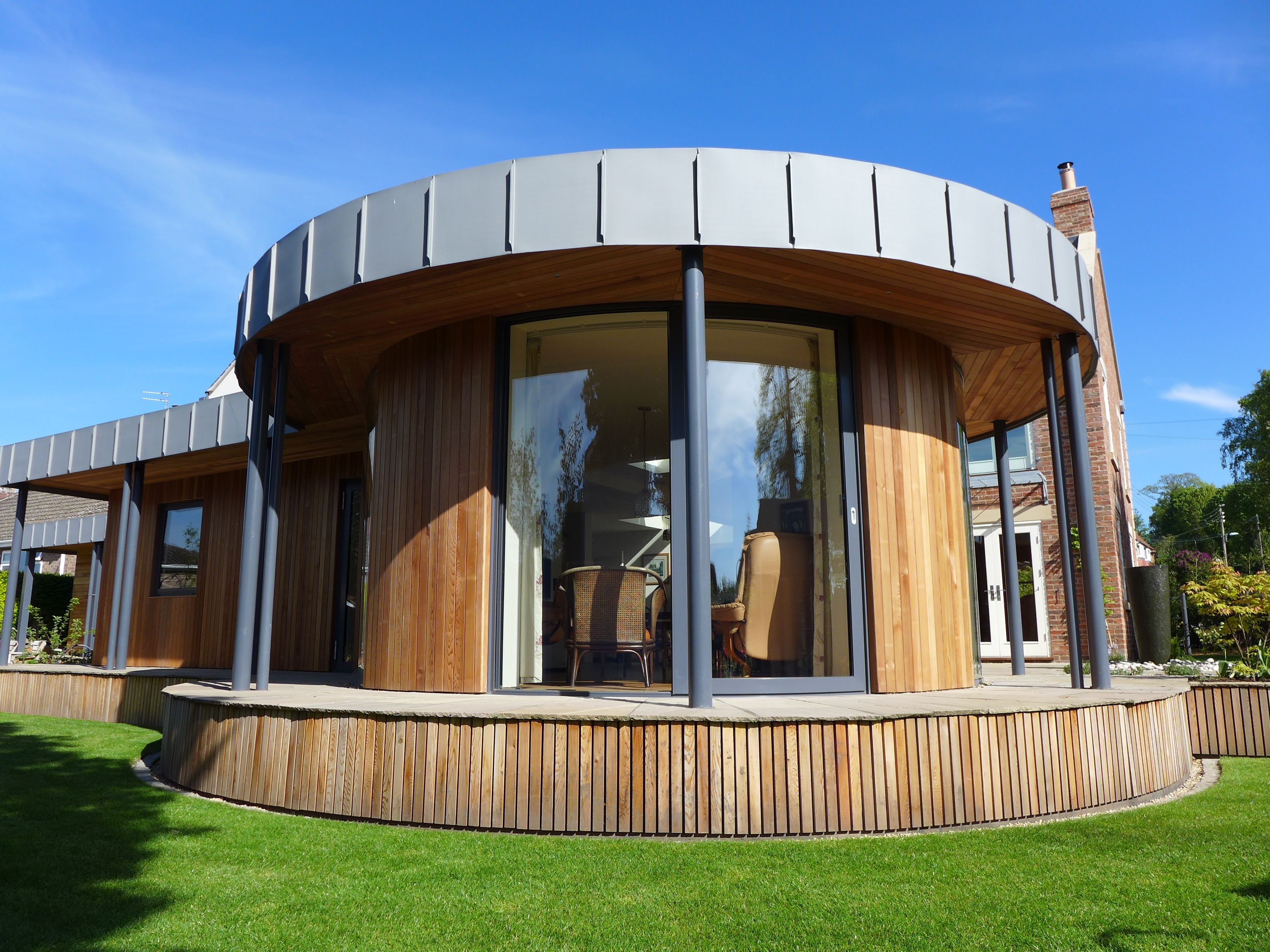 Large-scale curved sliding doors Easingwold York & Large-scale curved sliding doors Easingwold York | Aluminium ...