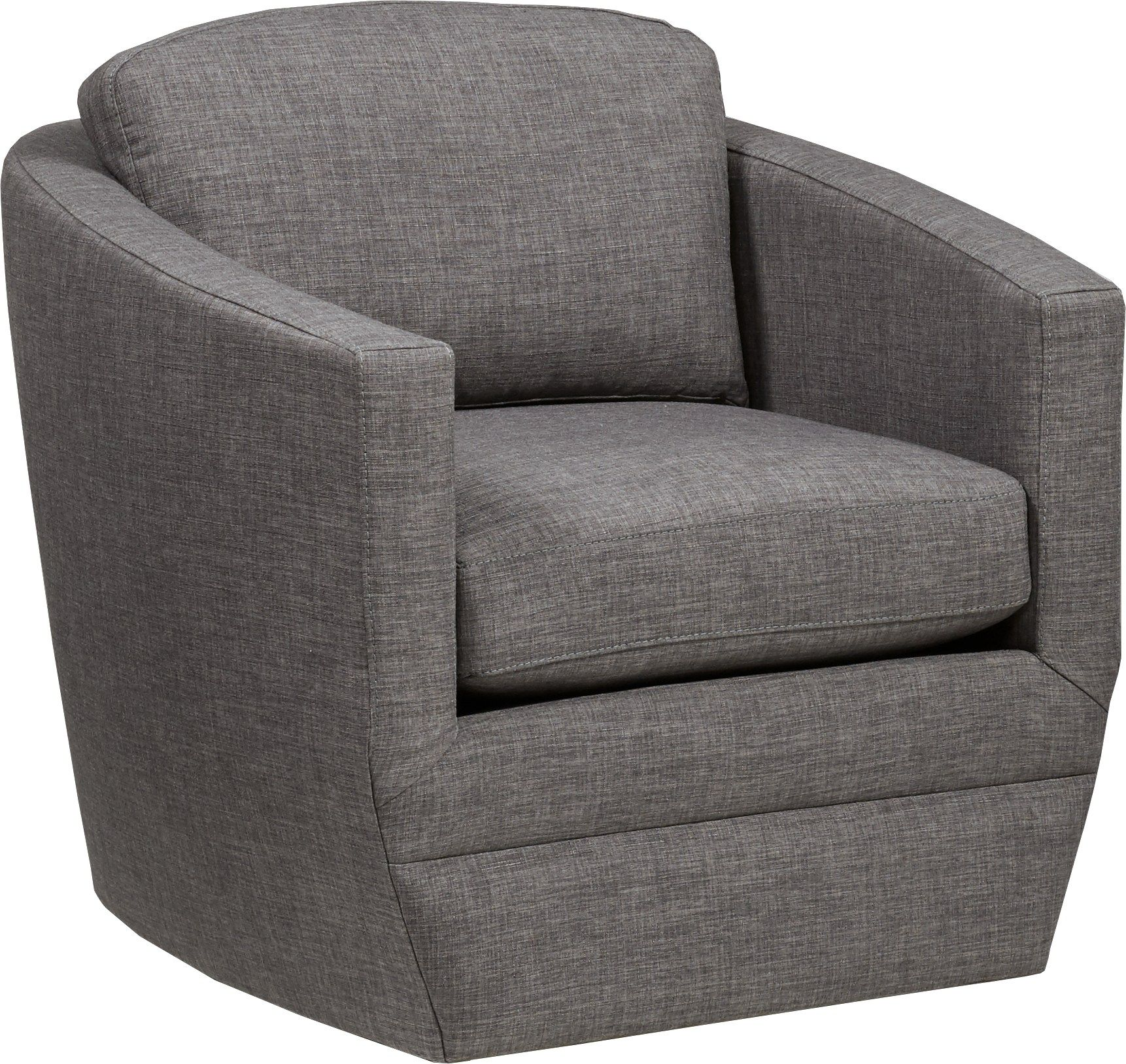 Harbour City San Marino Dark Gray Swivel Chair Grey Swivel Chairs Upholstered Swivel Chairs Chair