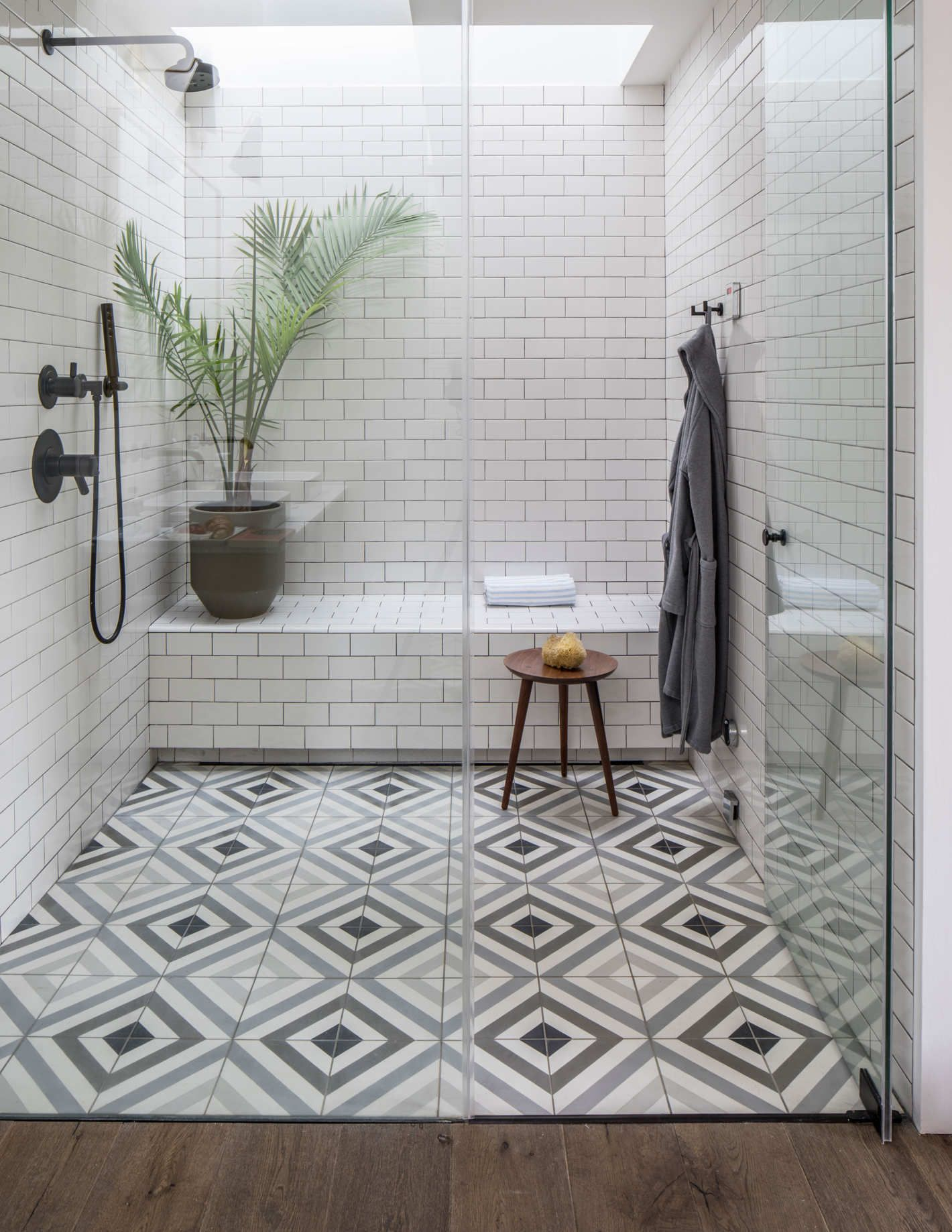 An Airy Modern Home In A 19th Century Bread Factory In 2020 Shower Tile Tile Remodel Shower Tile Patterns
