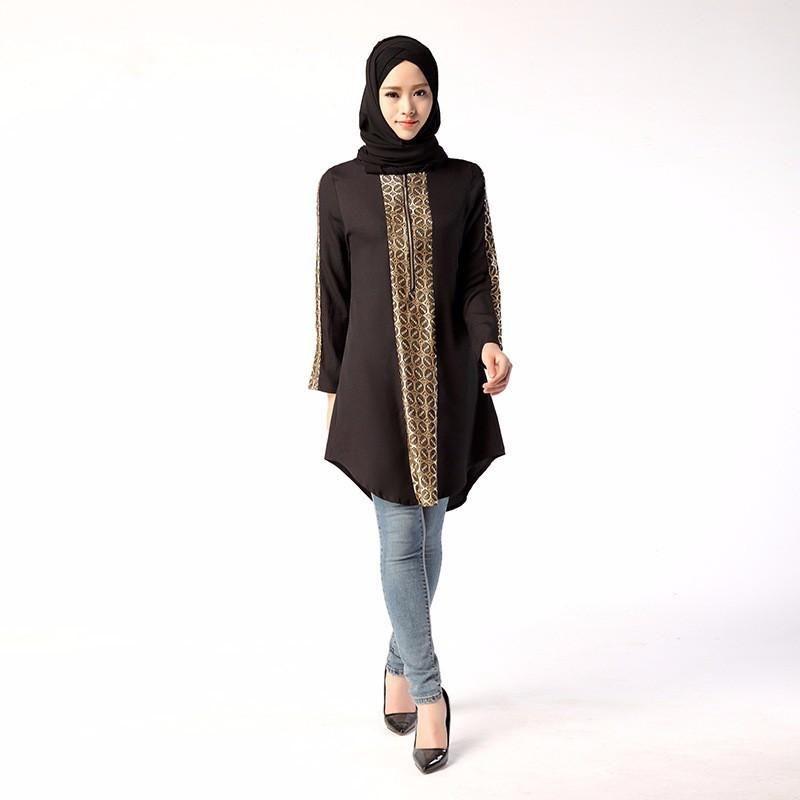 5f82525a58389 New Jilbabs Long Sleeve Abayas Caftan Arab Women Dress Turkey Dubai ...