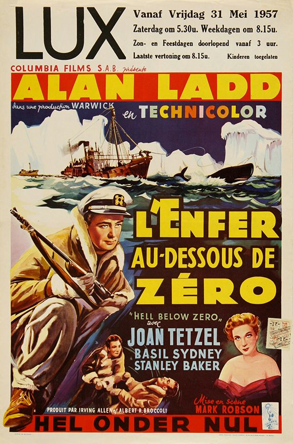 Hell Below zero Alan Ladd vintage movie poster print