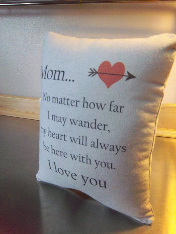 Mom Pillow Mother Valentines Gift Love Quote Ornament Home Decor