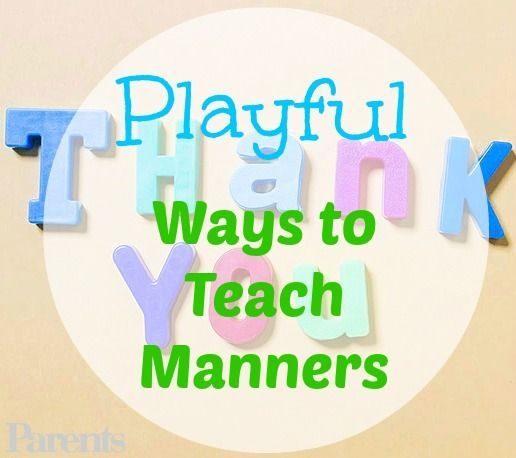 how to teach kids manners