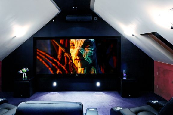 loft cinema media room id es pour les combles en 2019. Black Bedroom Furniture Sets. Home Design Ideas