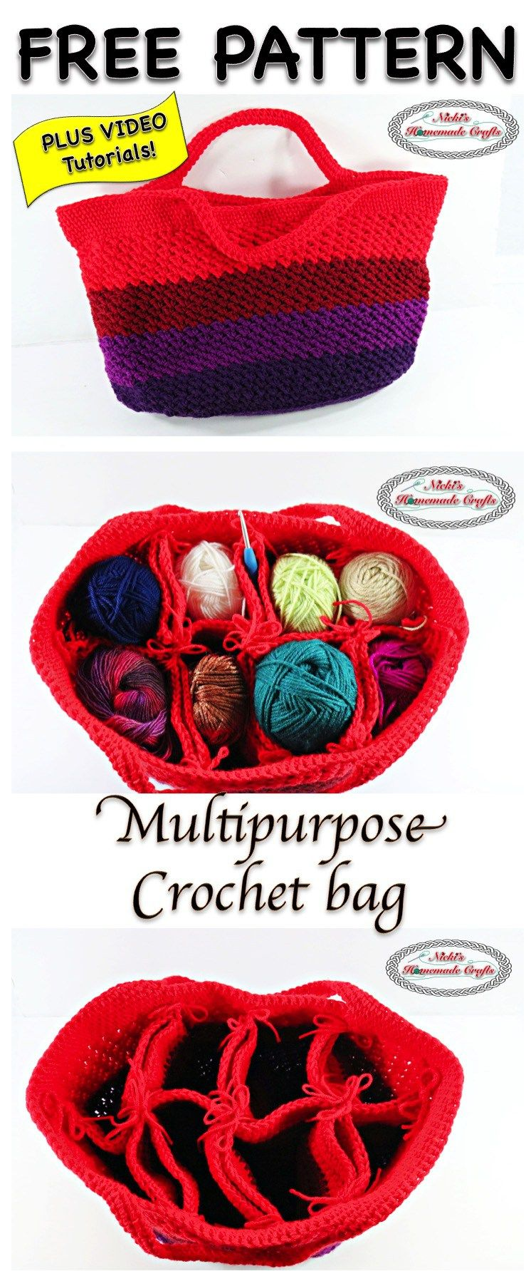 Multipurpose Crochet Bag - Free Crochet Pattern | Needle and Thread ...