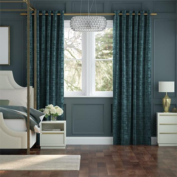 Dorchester Velvet Teal Curtains In 2020