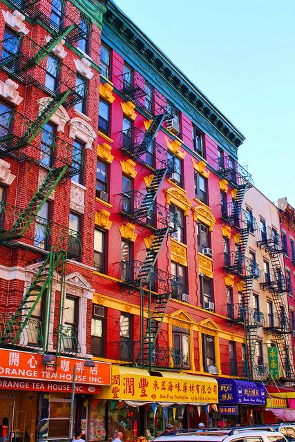 Colorful Buildings Colourful Buildings New York Scenery