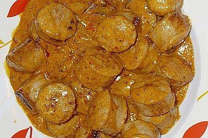 Grobe Bratwurst in Senf - Sahne - Sauce von gotcha86 | Chefkoch