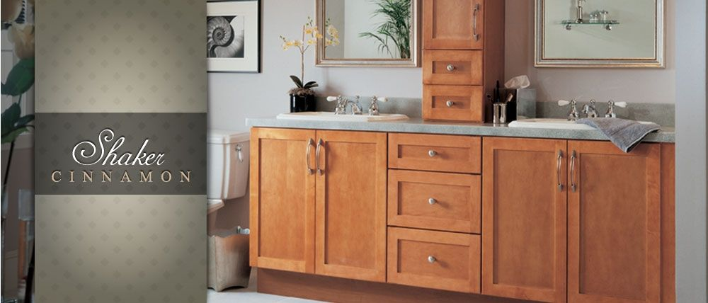 Picture Gallery Website Shaker Cinnamon Bathroom Cabinets