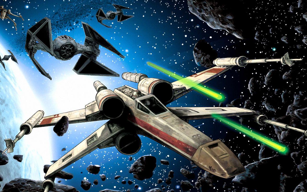 Tie Advanced Vs X Wing Star Wars Wallpaper Star Wars Spaceships Star Wars Ships