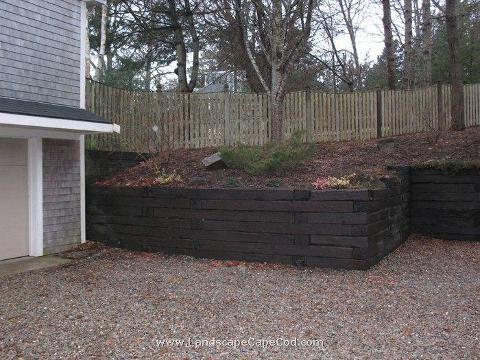 Old Railroad Tie Retaining Walls Railroad Tie Retaining Wall Landscaping Retaining Walls Retaining Wall