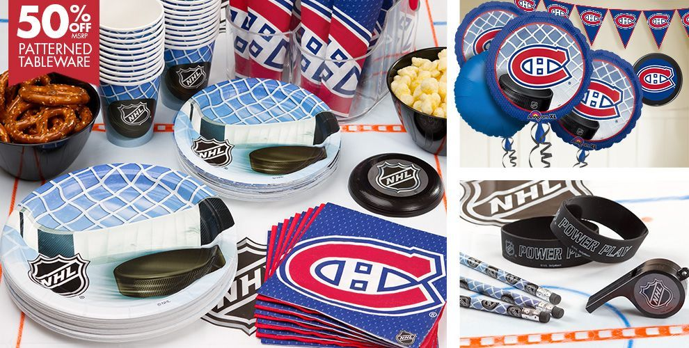 NHL Montreal Canadiens Party Supplies - Party City Canada