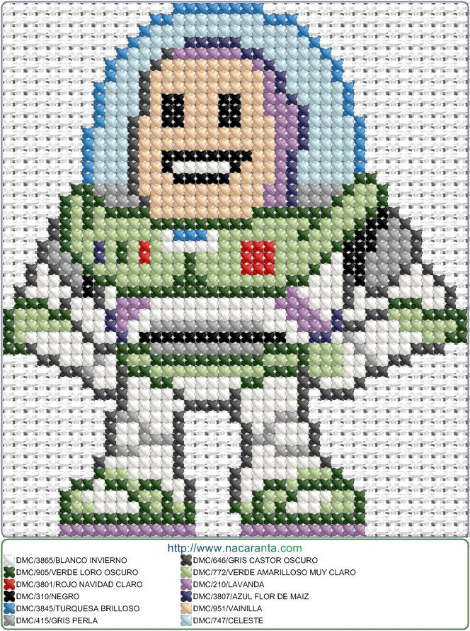 Buzz Lightyear EN PUNTO DE CRUZ | Bordado | Pinterest | Buzz ...