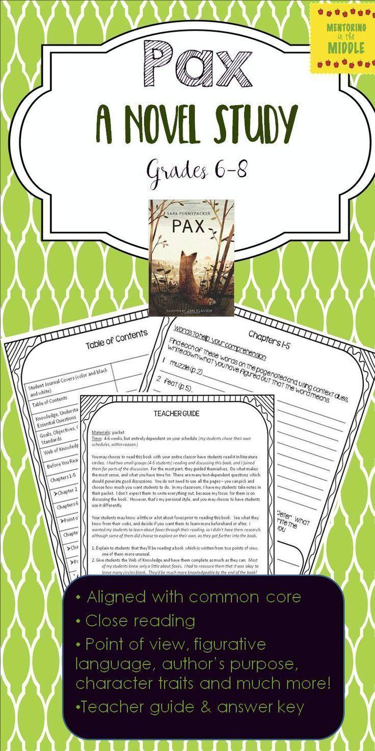 Pax novel study guide with digital slides novel studies