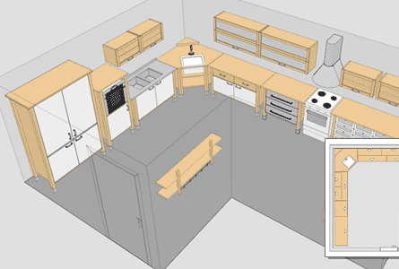 here to find kitchen cabinet layout tool online | free