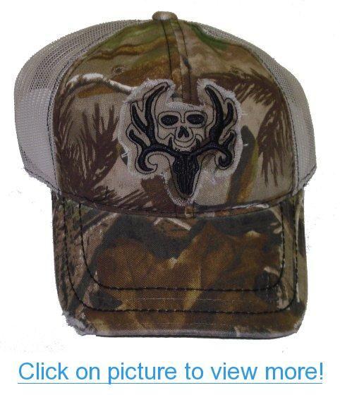 Bone Collector ~ DEER SKULL Camo Mesh Cap ~ NEW ~ Hunting HAT ~ Mike Waddell 91949e8d7e67
