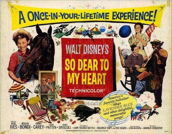 Danny Dentro de mi corazón (So dear to my heart) es un clásico infantil de 1948, dirigido por Harold D. Schuster y Hamilton Luske para la Walt Dinesy Produ