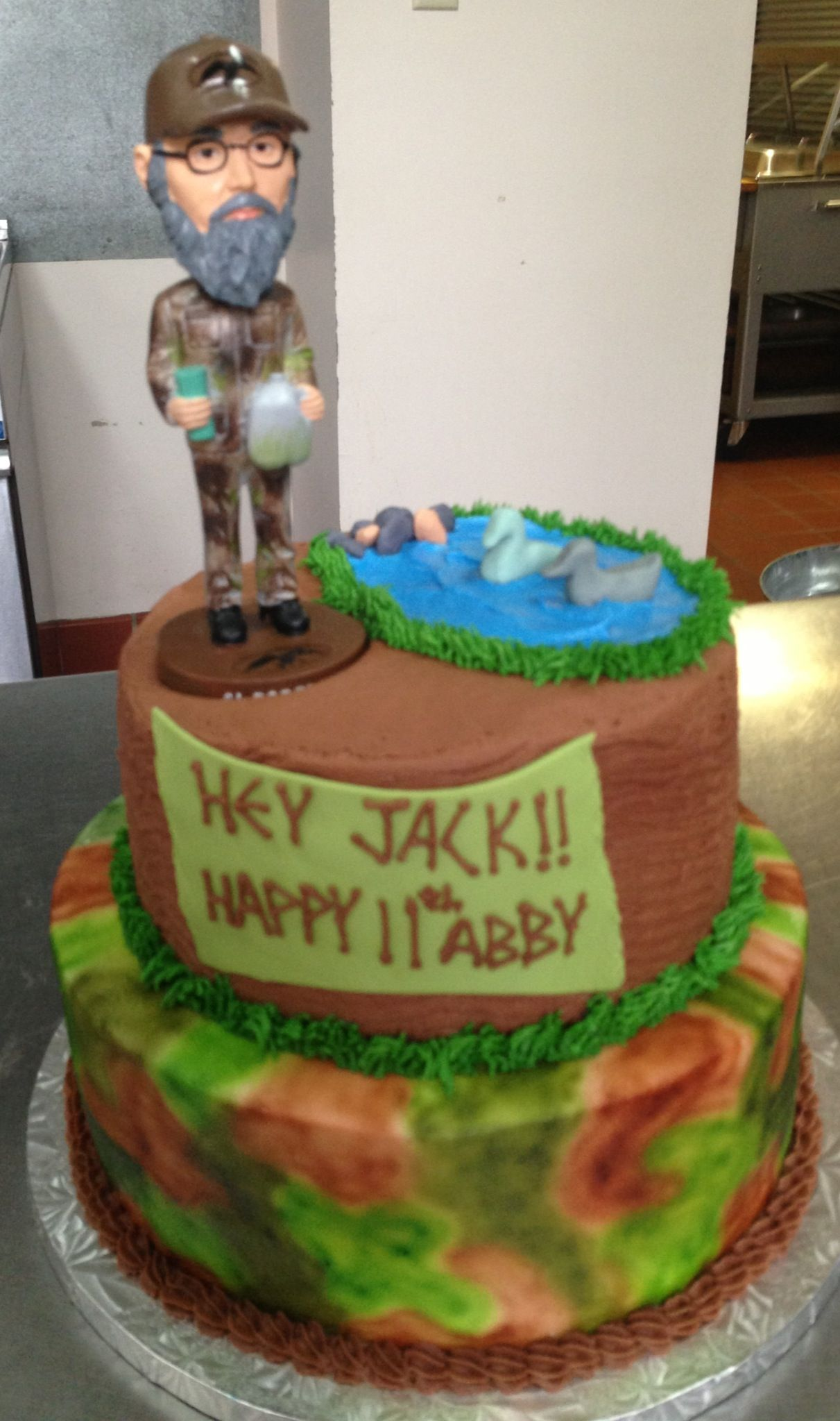Outstanding Duck Dynasty And Uncle Si Now Thats A Cake Jack Cake Personalised Birthday Cards Veneteletsinfo