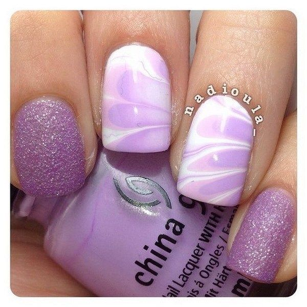 30+ Chosen Purple Nail Art Designs - 30+ Chosen Purple Nail Art Designs Fingernail Designs, Nail Nail