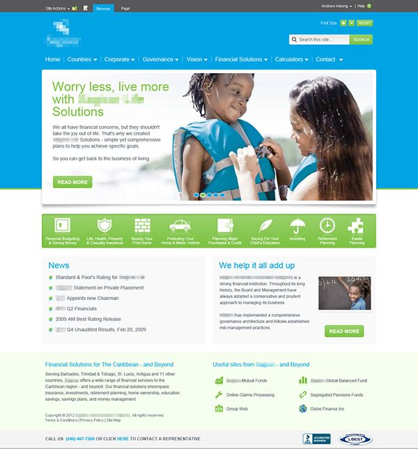sharepoint homepage template