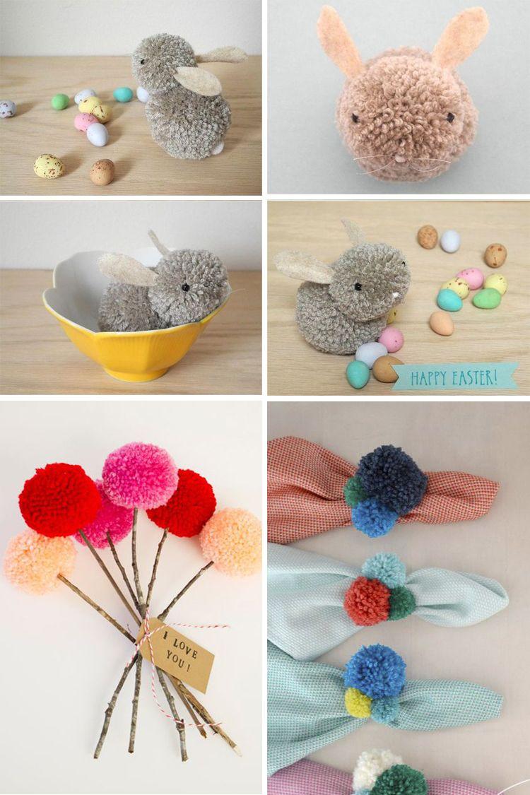 10 trabajos manuales para hacer con pompones pompones - Manualidades en lana ...