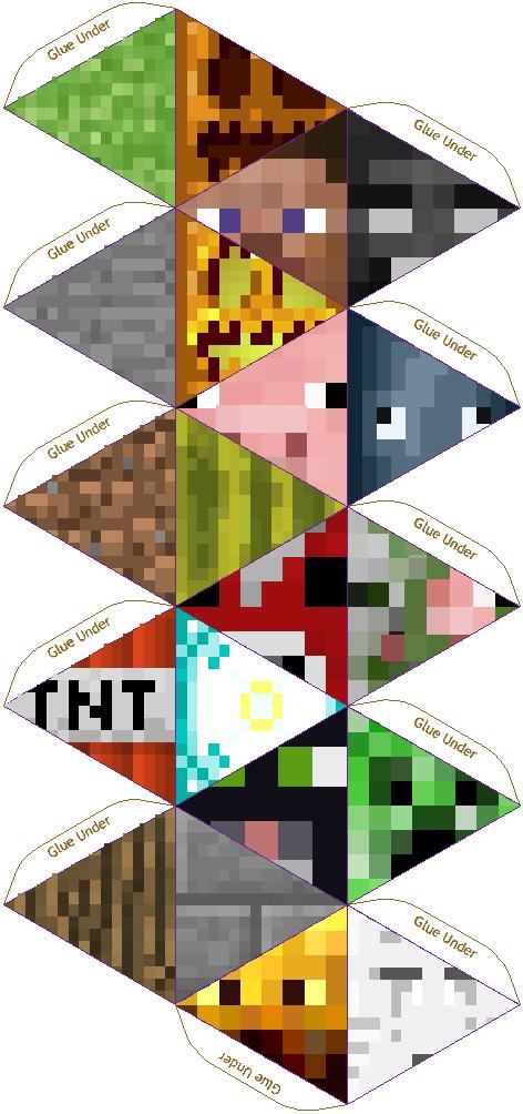Papercraft 20 Sided Minecraft Die Pixel Paper Craft Kid Fun