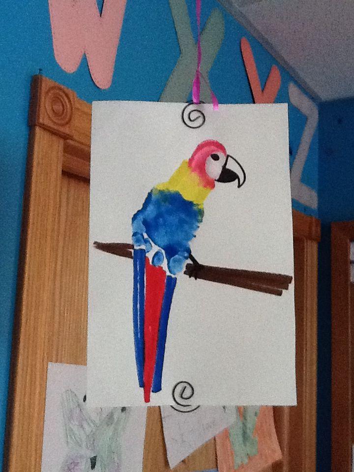 Parrot Footprint Infant Toddler Room Misc Crafts Toddler Art