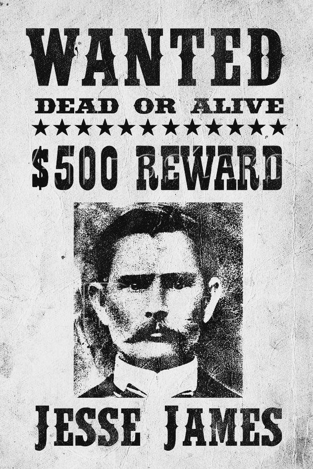 Wanted Poster Jesse James Criminal Behavior – Wanted Criminal Poster