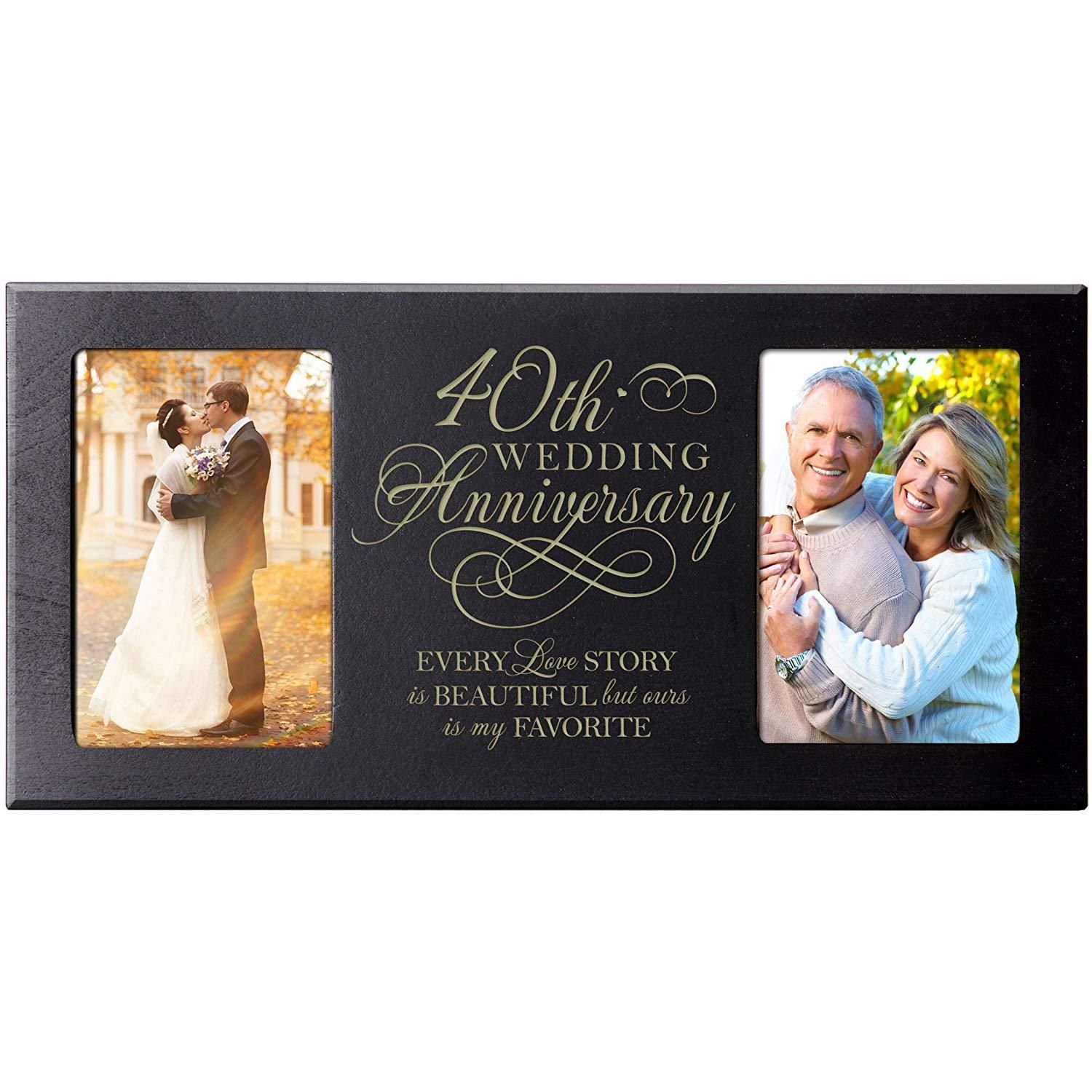 40th Year Wedding Anniversary Double Frame Plaque Every