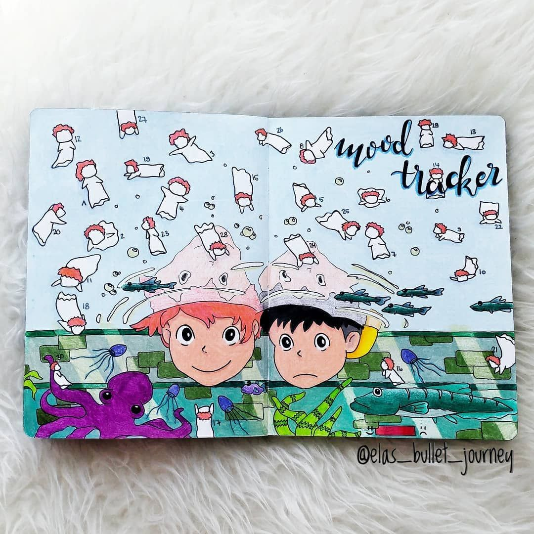51 Utterly Amazing Habit And Mood Trackers Bullet Journal Mood