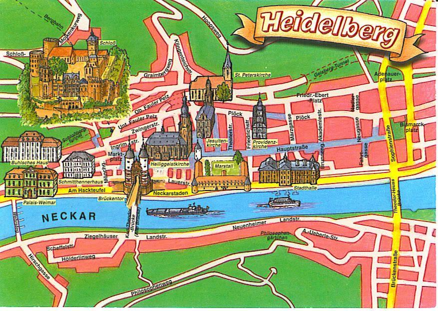 Heidelberg Germany Ich liebe Heidelberg Maps Pinterest