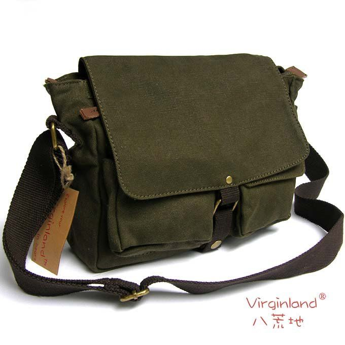 Bag, sling Free-Shipping-Washed-canvas-genuine-leather-Sling-Bag ...