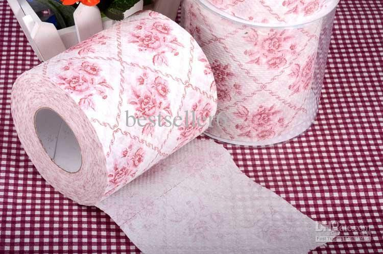 Toilet Roll Paper Lilac Flower Print Paper Tissue Napkin
