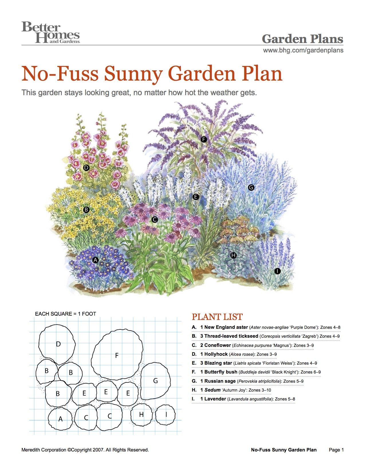 Sunny Ease Flower Garden Plans Garden Planning Front Landscaping