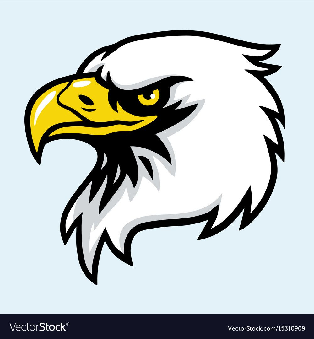 Eagle head mascot Royalty Free Vector Image VectorStock