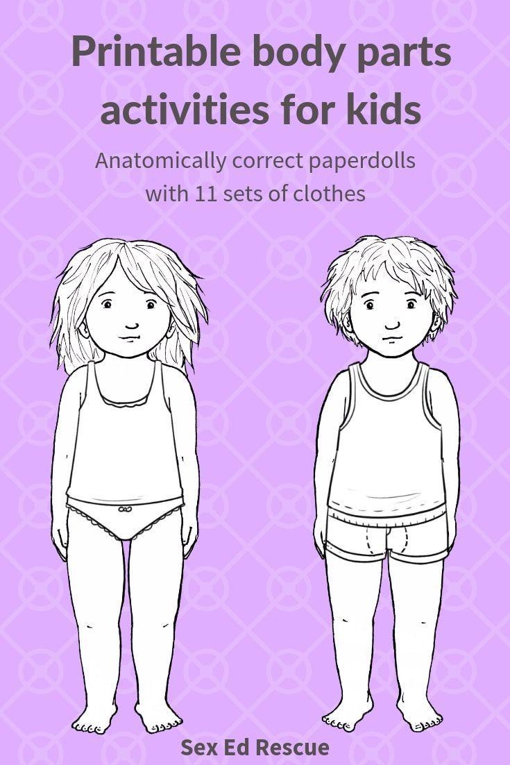 Anatomically correct printable paper dolls | Keeping kids ...