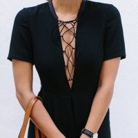 BEFORE & AFTER: DIY LACE UP DRESS
