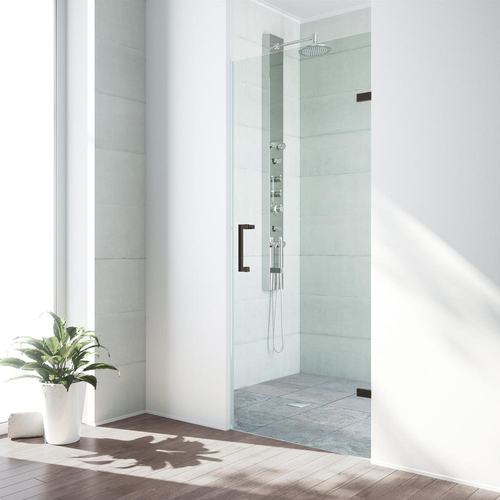 Vigo Soho 24 To 24 1 2 In X 70 625 In Frameless Hinged Shower
