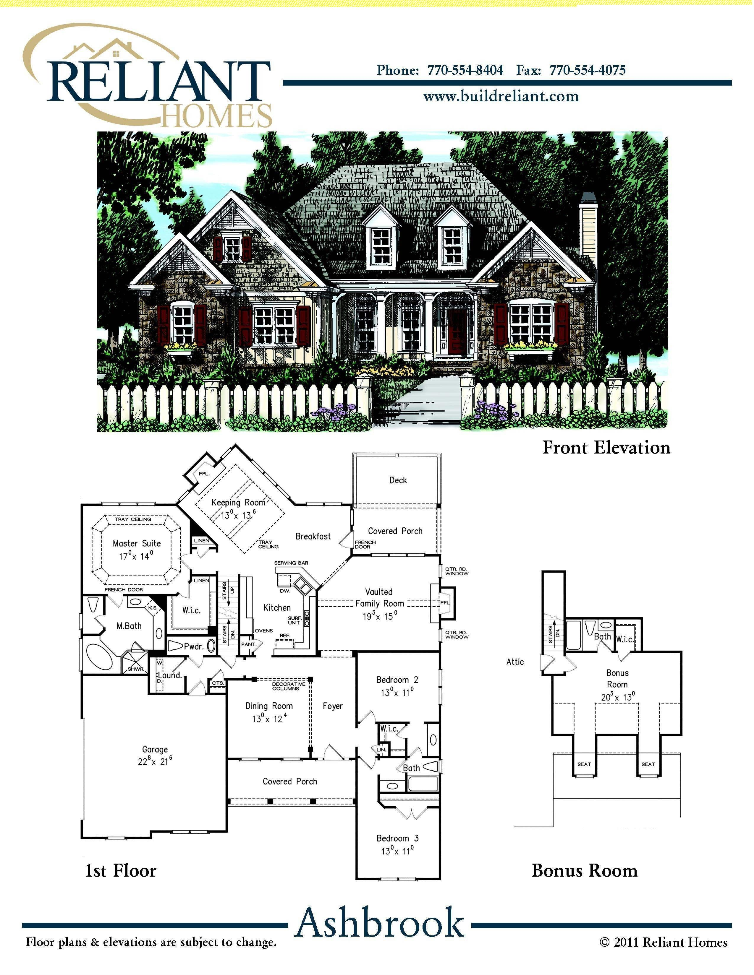 Reliant Homes | The Ashbrook Plan | Floor Plans | Homes | Homes For Sale | Part 80