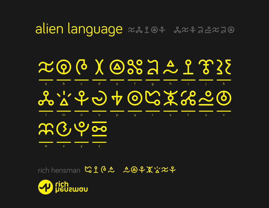 alien language original font by *thedingobustler | LETRAS ...