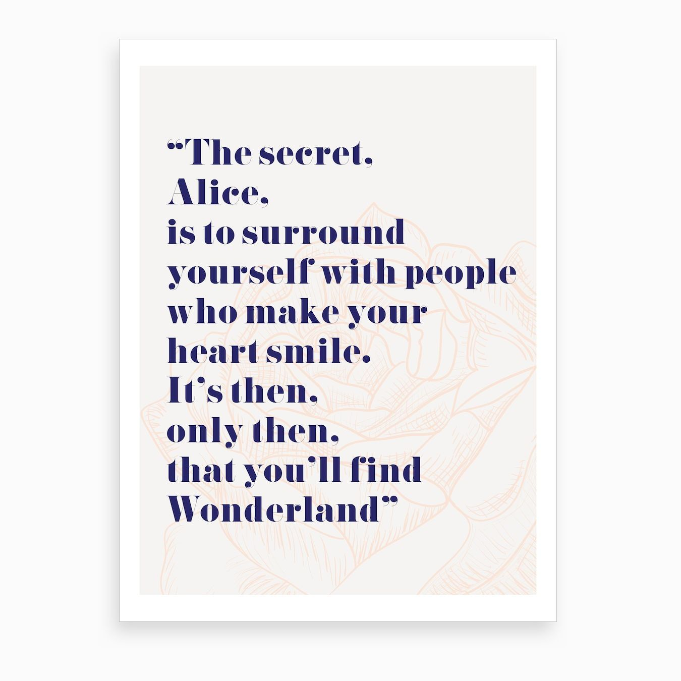 Wonderland Alice Quote Art Print Alice quotes, Home