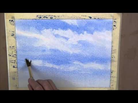 How To Paint A Simple Watercolour Sky Youtube Watercolor Sky