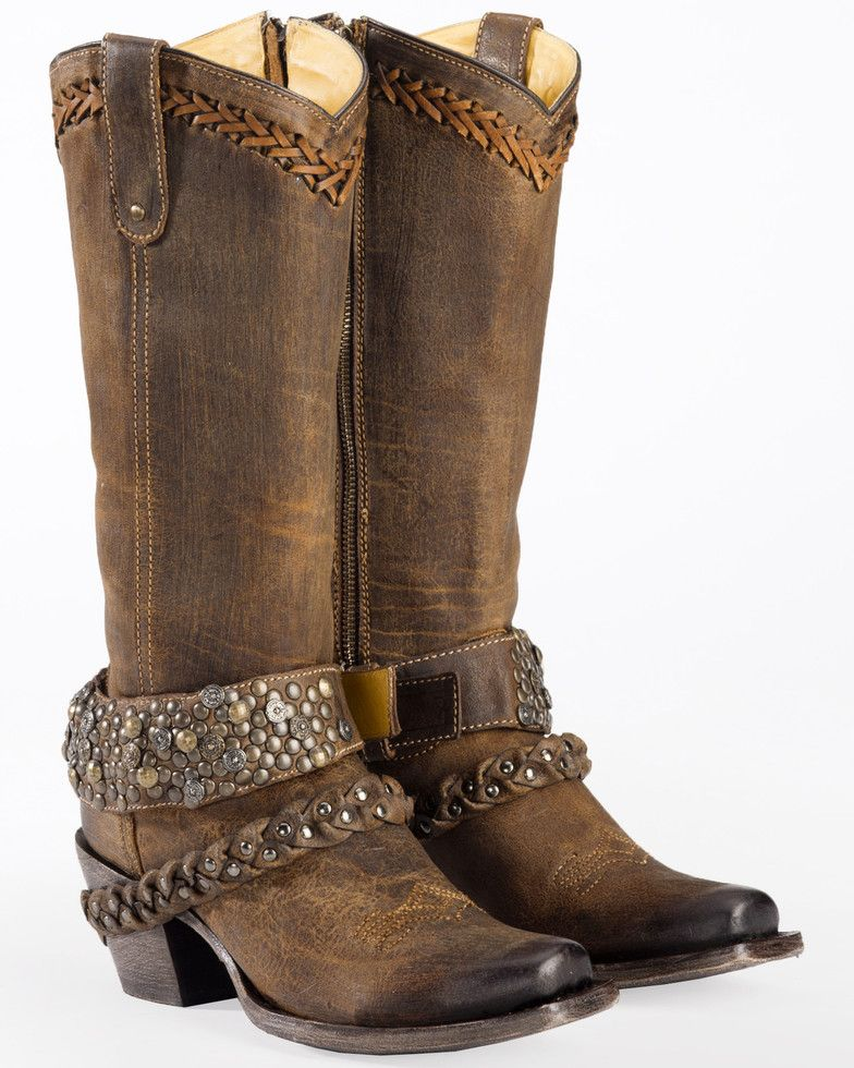 Woven Stud & Harness Boots